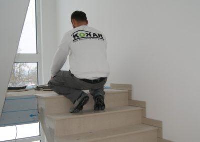 Innenausbau-Treppenhaus-Stufen