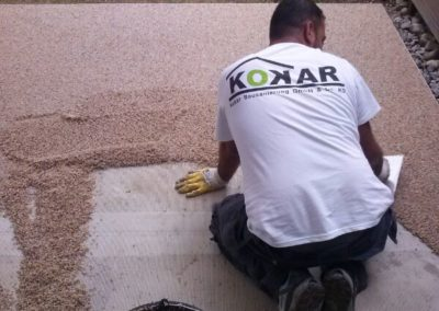 Terrassensanierung-Marmorkies